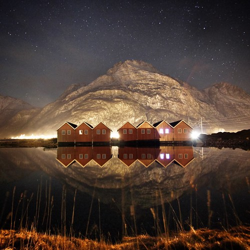winter mountains reflection nature water norway canon stars landscape europe long exposure nightshot fjord sunndal
