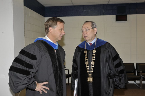 Bill Haslam chats with Chancellor Jimmy G. Cheek
