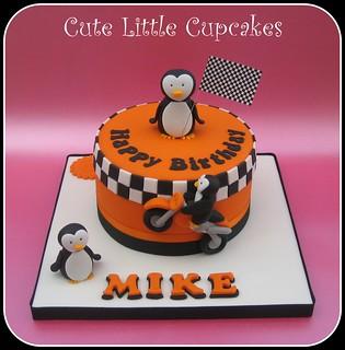 Super Penguin Motocross Cake Heidi Stone Flickr Birthday Cards Printable Trancafe Filternl