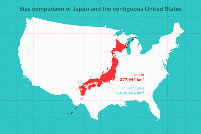 Sizecomparison Japan Us 670 Layering This Image Comparin Flickr - Us-to-japan-map