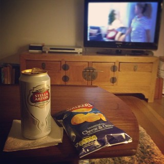 Stella, cheese and onion crisps, Gavin and Stacey marathon | by Texarchivist