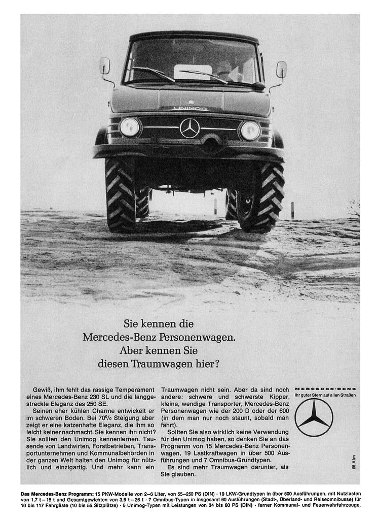 Mercedes-Benz Unimog (1966) Typ U 403 / U 406 Traumwagen ...
