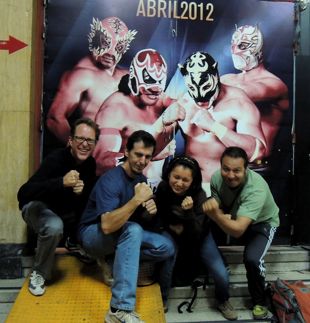 Las luchadores? me, Sergio, Diana, Isaac by bryandkeith on flickr