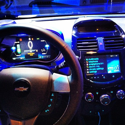 Connected small car: 2014 #Chevrolet Spark Infotainment System - comes with #LTE soon .. #ces2014 #connectedbyonstar Photo