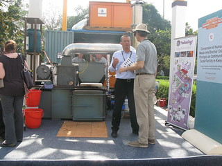 Pyrolysis reactor on display | by Sustainable sanitation