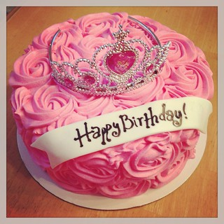 Remarkable Fun Pink Princess Cake For A Special Birthday Girl Flickr Funny Birthday Cards Online Overcheapnameinfo