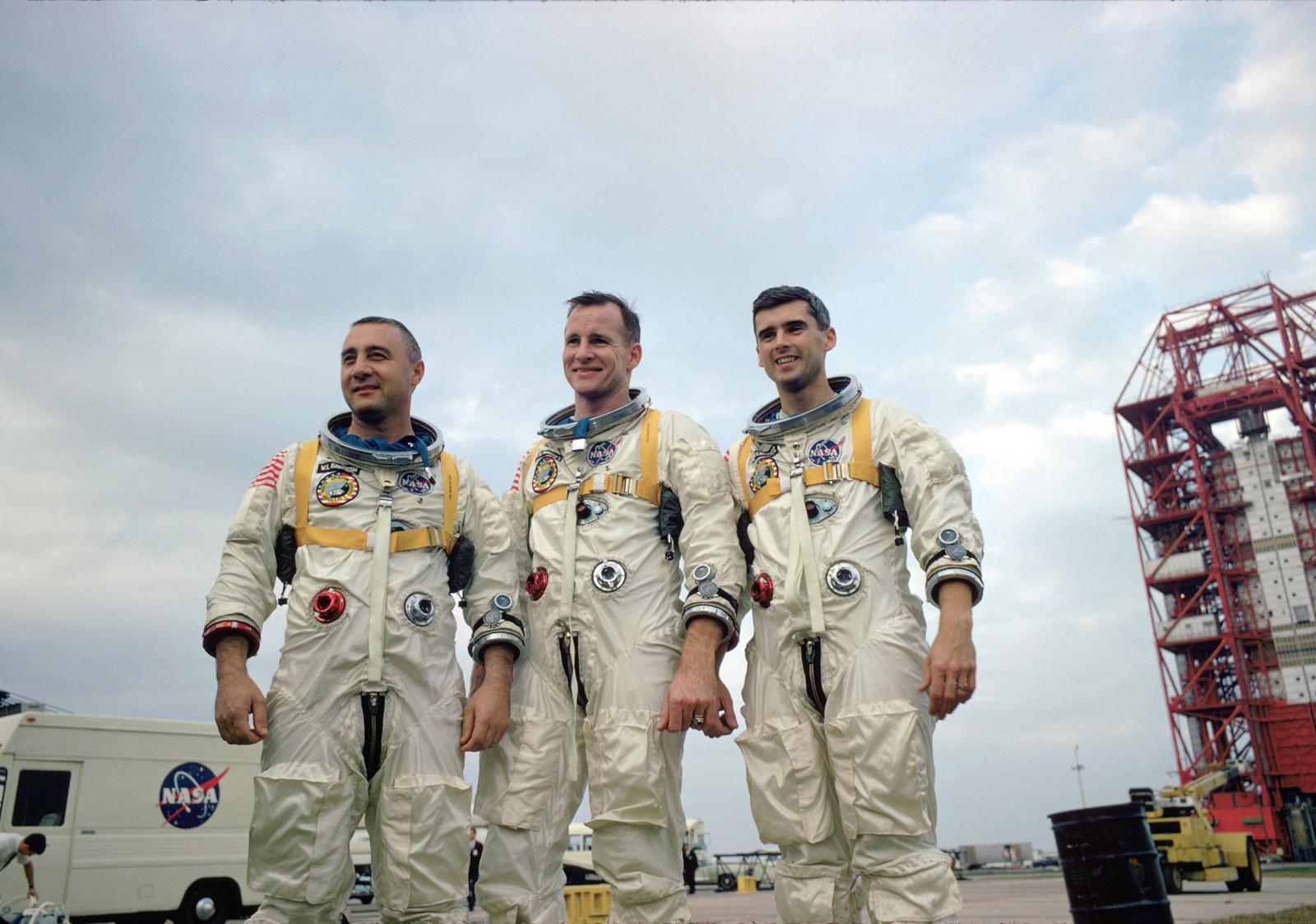 Apollo 1 crew in training