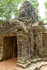 West gate of Ta Som temple near Siem Reap, Cambodia