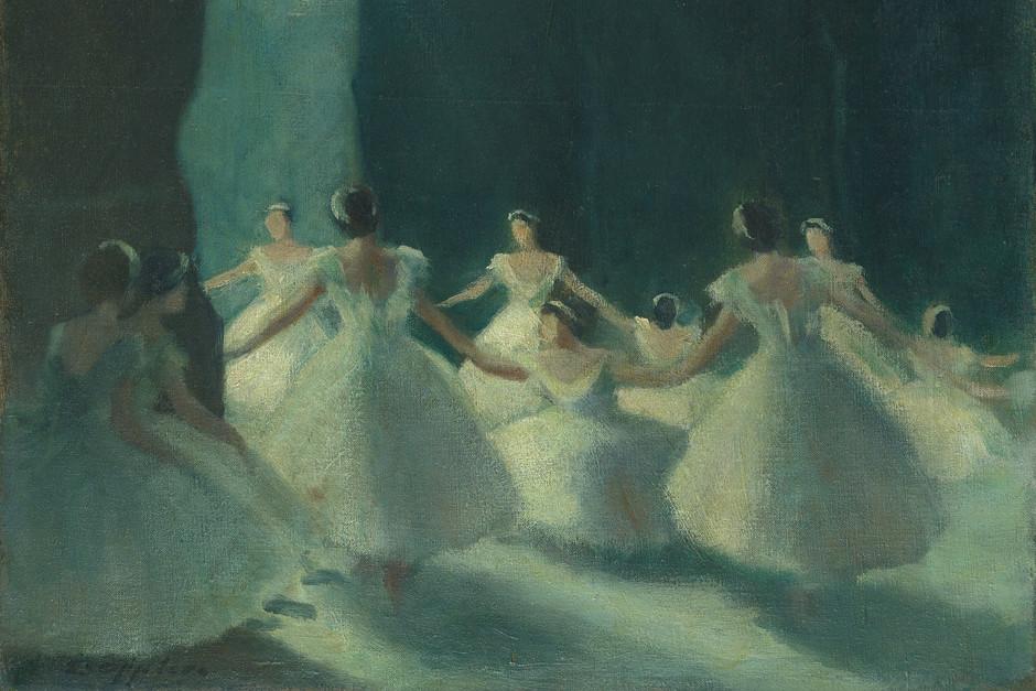 Les Sylphides (Hinter den Kulissen) by Ernst Oppler, 1915