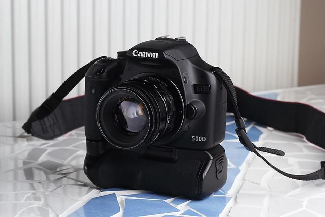 Canon 500d m42 vintage 50mm lense