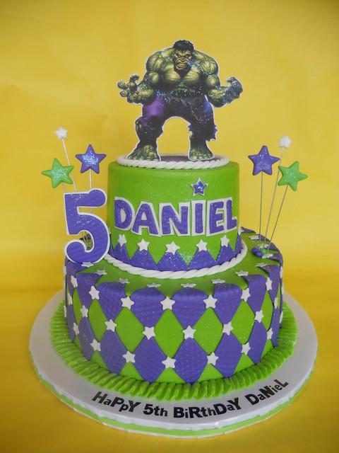 Incredible Hulk 5th Birthday Cake