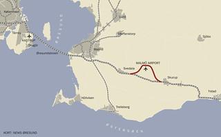 Kort Jernbane Til Malmo Airport 20130828 01 Tog Fra Kobenh Flickr