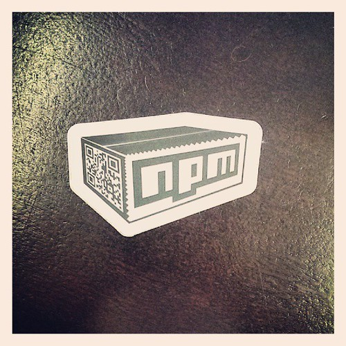 Another gem from clearing Nitobi. Old npm sticker. | by Brian LeRoux