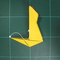 วิธีพับกระดาษเป็นรูปนกยูง (Origami Peacock - ピーコックの折り紙) 026