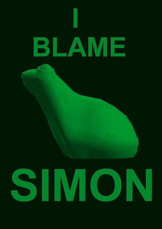 I blame simon