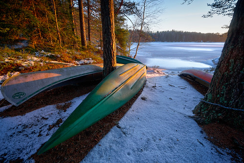 trees winter lake snow ice norway sunrise landscape norge woods norwegen canoe canoes scandinavia hdr halden østfold waterscape 10mm aremark sel1018 storeerte bentvelling sonya6000