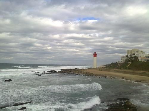 lighthouse durban southafrica umhlanga ocean blinkagain sea water waves travel sky cloudy africa south