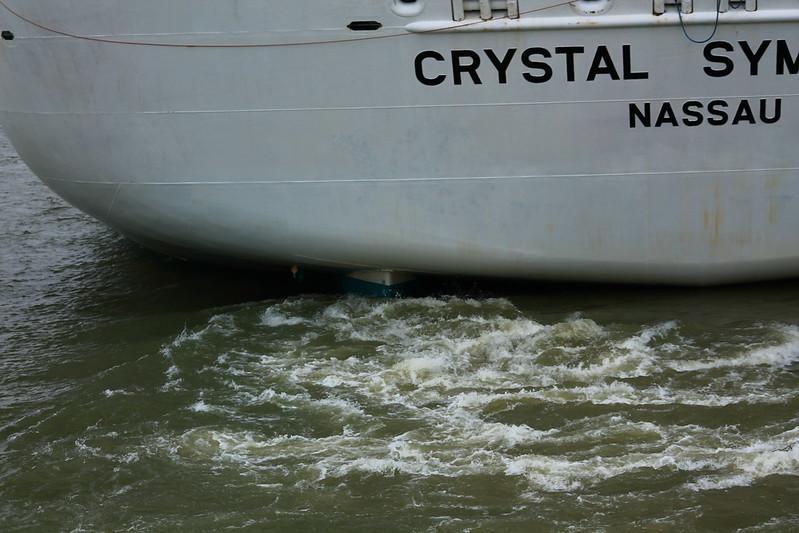 Accostage du paquebot MS CRYSTAL SYMPHONY - Bordeaux - 17 juin 2013