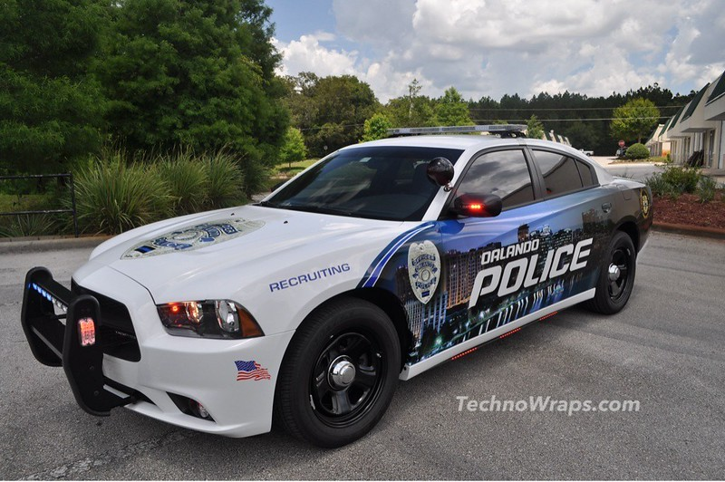 Police car graphics wrap by TechnoSigns in Orlando, Florida
