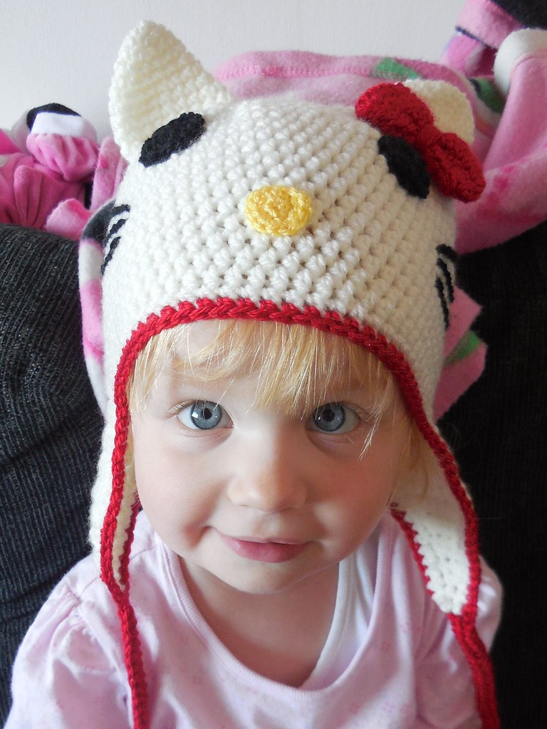 Hello Kitty Crochet Hat Pattern Available On Etsy Flickr