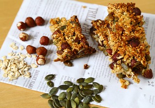 Hazelnut & Pumpkin Seed Flapjacks | by Foodmoods