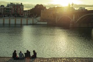 Sunset over Triana Bridge   by josemanuelerre