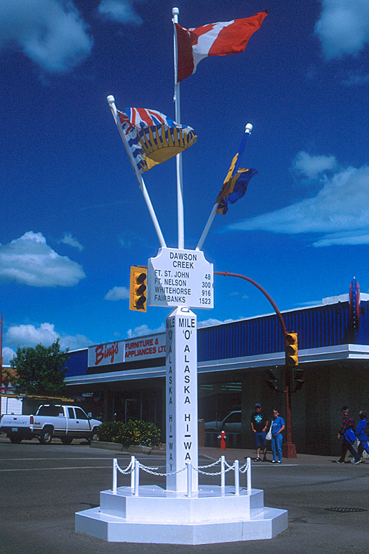 Mile Zero, Dawson Creek, Alaska Highway 97, Northern British Columbia, Canada