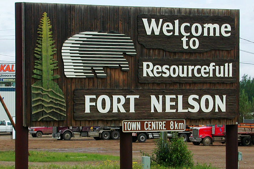 Fort Nelson, Alaska Highway 97, Northern British Columbia, Canada