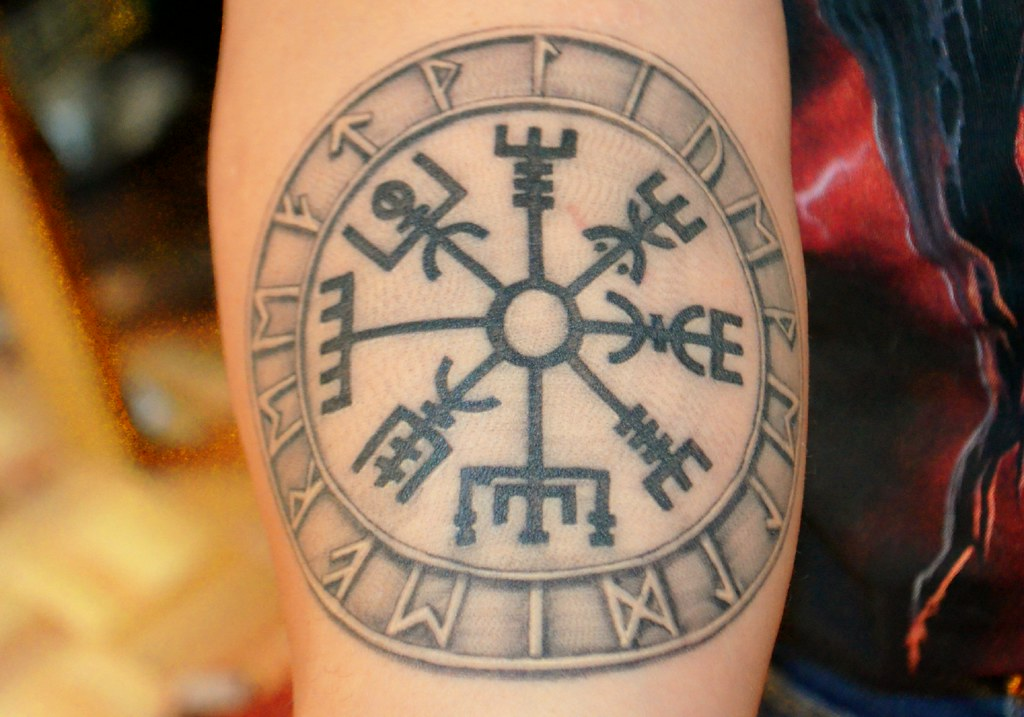 Vegvisir Tattoo This Is My Latest Tattoo The Symbol Vegvi