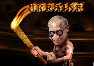 Vladimir Putin - Inflaming Ukraine Challenging Obama | by DonkeyHotey