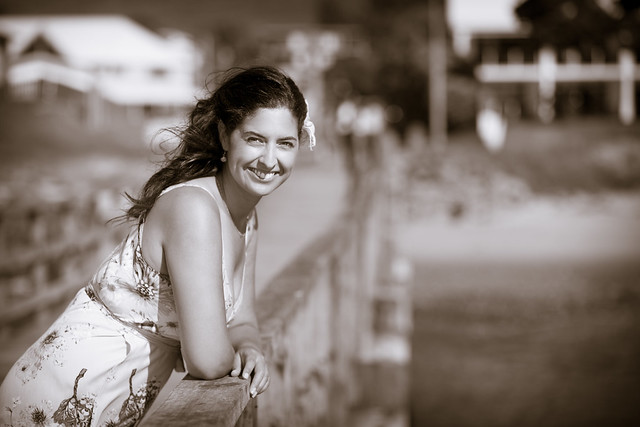 Leonie on Omapere wharf