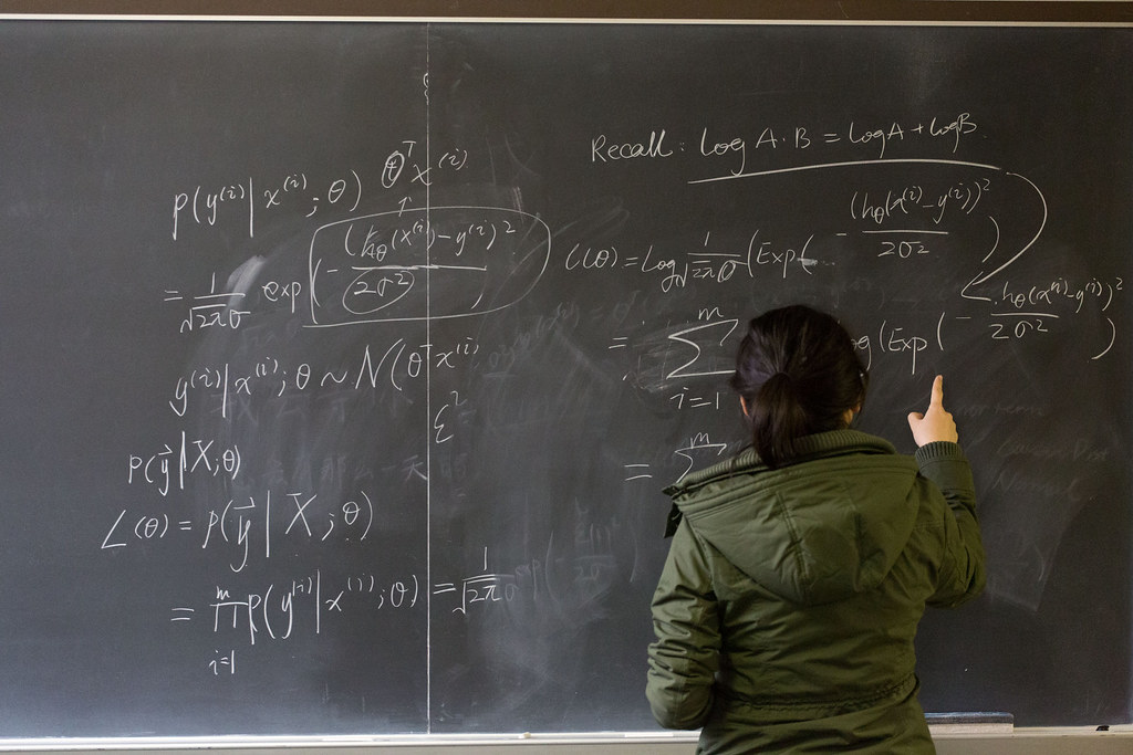 Mathematics Student at the Blackboard | A Knox College stude… | Flickr