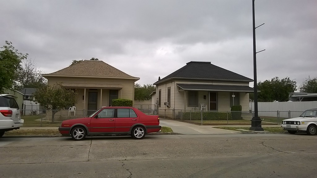 Homes built in 1900 on the historic Cypress Street Barrio