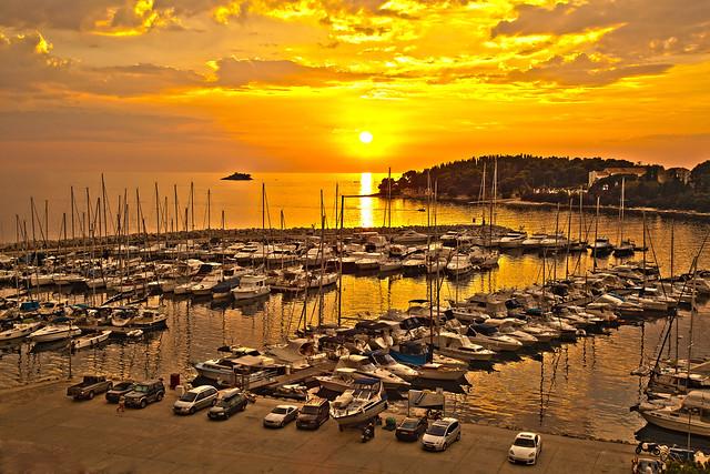 Rovinj Marina Sunset.