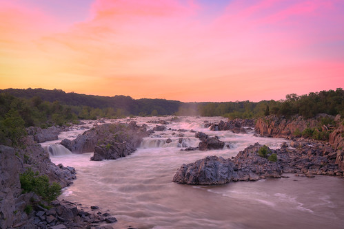 longexposure sunset virginia waterfall greatfalls potomacriver northernvirginia greatfallspark greatfallsva summersunset
