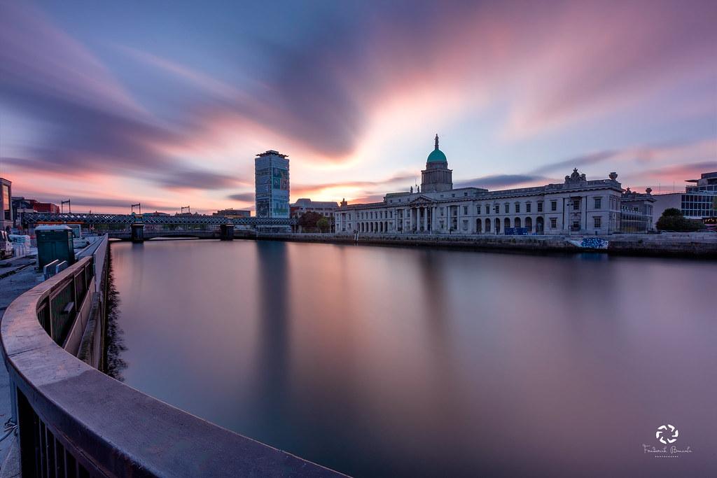 Sunset at Customs House , Dublin