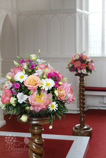 pedestal arrangements | by bloomsdayflowers