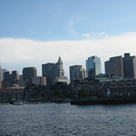 Boston Skyline from the water taxi