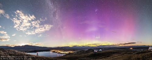 Moon Rise, Aurora & the Galactic Bulge | by Earth & Sky NZ