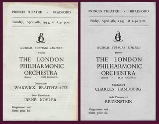 6th/9th April 1943 - London Symphony Orchestra at the Princes Theatre, Bradford | by Bradford Timeline
