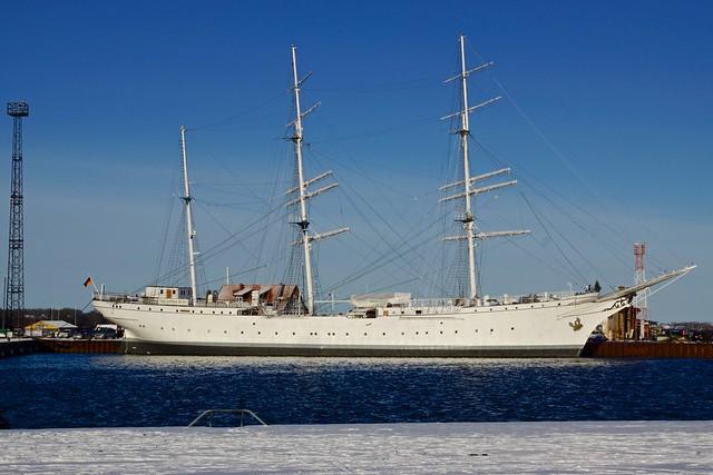 The original Gorch Fock from 1933 in the harbour of Stralsund in Mecklenburg-Vorpommern, Germany