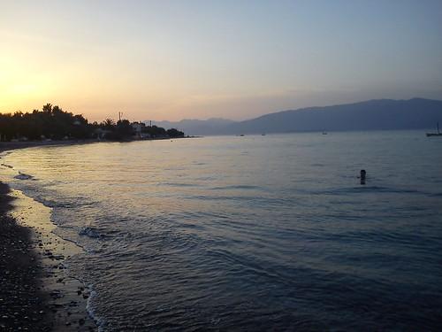 sea sunrise swimming greece achaia διγελιώτικα αίγιο sonyericssone10i amaliamarinopoulou