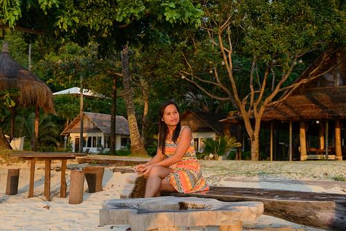 sunset orange sexy beach girl beautiful lady phl philippinen negrosoccidental cawayan