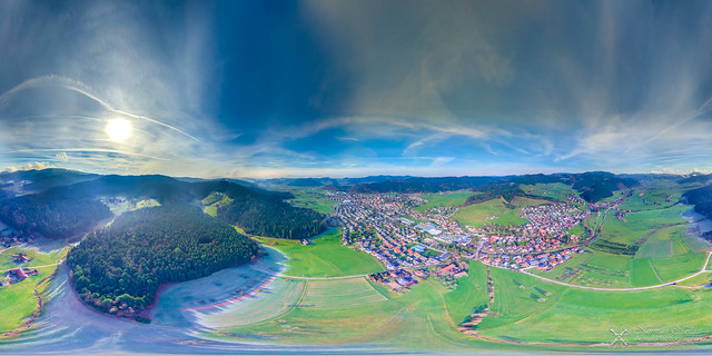 360° Panorama from above / Zell am Harmersbach / Black Forest / Schwarzwald