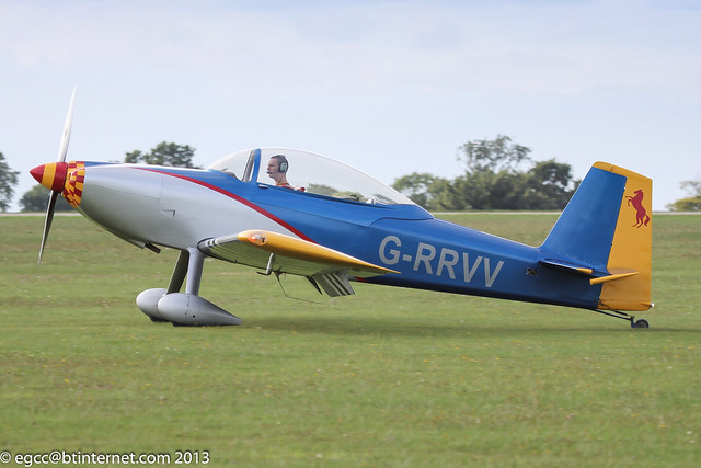 G-RRVV - 2006 build Vans RV-8, arriving at Sywell during the 2013 LAA Rally