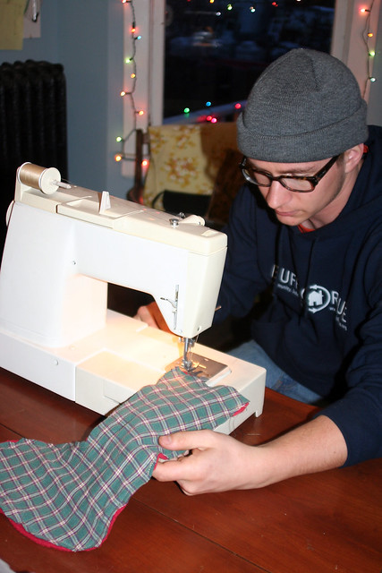 This is the first thing Ben ever sewed...ever...