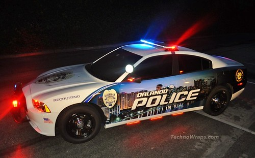 Dodge Charger police car wrap in Orlando