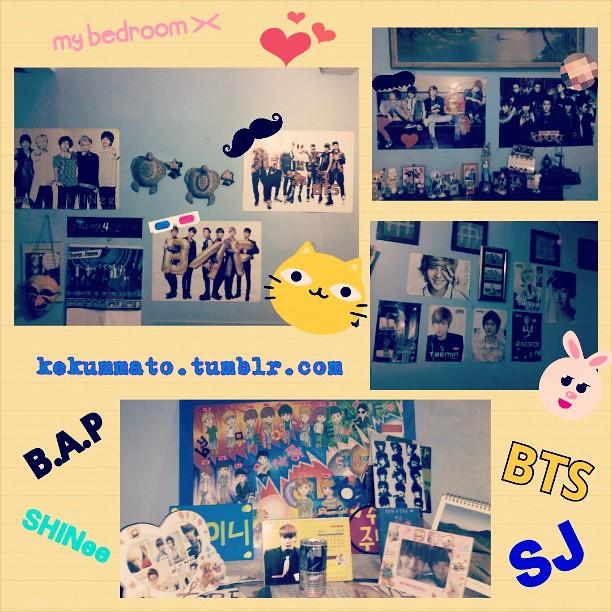 My sweet bedroom(?) X3 Full of Kpop~! Lols #BAP #SHINee #S… | Flickr