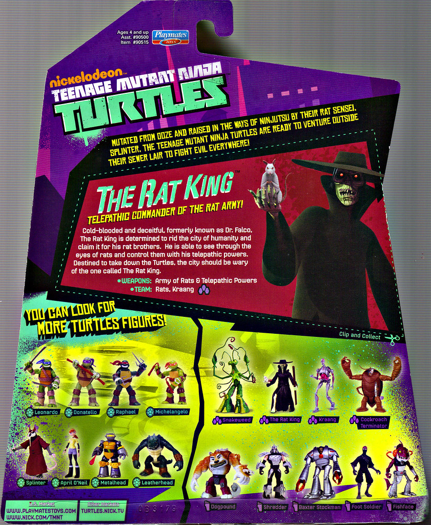 Nickelodeon  TEENAGE MUTANT NINJA TURTLES :: THE RAT KING ..card backer (( 2013 )) by tOkKa