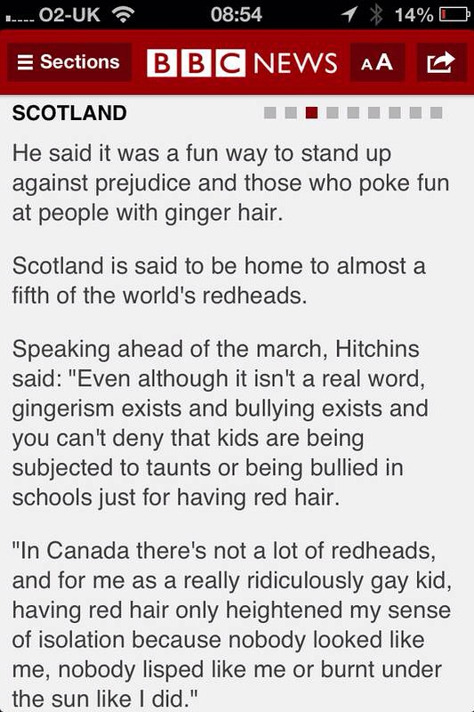 The ginger population of Scotland..?